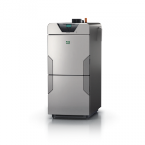 Plenty of wood? Then CTC's modern CTC V40 wood boiler is the perfect choice.